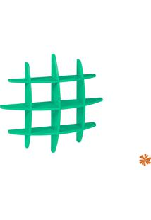 "Prateleira Taylor Hashtag Média Mdf ""Verde Piscina"" 598-0054 - 90X90X14 Cm"