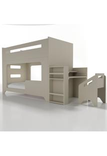 Conjunto Lumi - Beliche+Escrivaninha Cinza Timber - Cinza - Dafiti