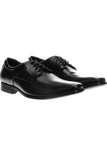 Sapato Social Couro Democrata Cosmo Flex Stretch - Masculino-Preto