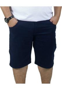 Bermuda Sarja Bigshirts Plus Size Azul Marinho - Kanui