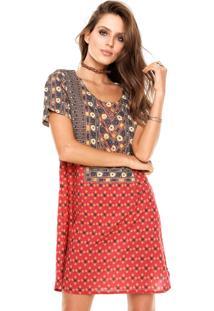 Vestido Cantão Silk Outonal Vermelho