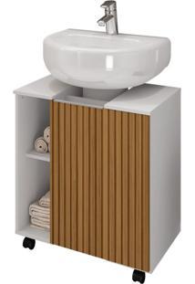 Gabinete De Banheiro Pequin 1 Pt Branco