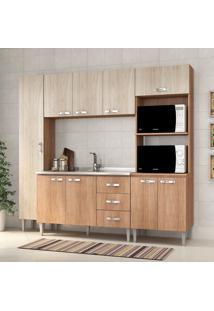 Cozinha Compacta Master Sem Tampo Cm04 Carvalho/Blanche - Fellicci