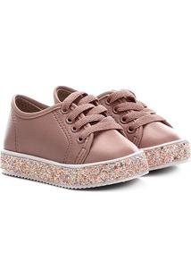 Sapato Infantil Molekinha Napa Turim Gliter - Feminino