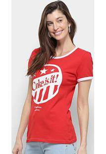 Camiseta Coca Cola Coke Is It Manga Curta Feminina - Feminino