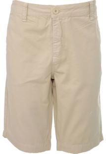 Bermuda Sarja Calvin Klein Jeans Chino Básica Bege