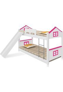 Beliche Baixa Casa Adesivada Rosa Com Escorregador Casah - Rosa - Dafiti
