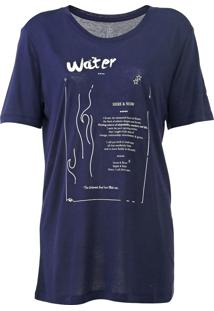 Camiseta Carmim Elements Azul-Marinho