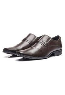Sapato Social Coronello Em Couro Marrom