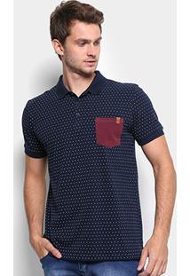 Camisa Polo Reserva Piquet Estampada De Poá Masculina - Masculino 8e93428b652e8
