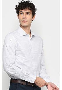Camisa Xadrex Vr Manga Longa Masculina - Masculino-Azul Escuro