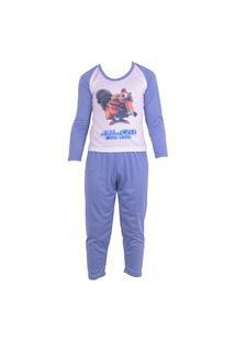 Pijama Infantil Tj Vip Menino De Inverno Em Malha Azul