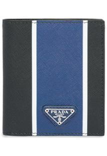 Prada Carteira Color Block - Azul