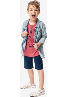 Camisa Jeans Délavé Malwee Kids