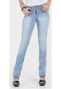 51cdc7da0 Calça Feminina Jeans Flare Cintura Média Biotipo