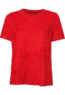 Camiseta Forum Bordada Vermelha - Kanui