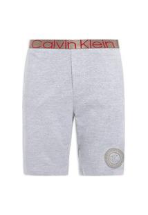 Bermuda Masculina Moletom Icon Cotton Loungewear - Cinza