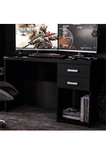Mesa Para Computador 2 Gavetas Afrodite 1,20M Preto Bp - Politorno