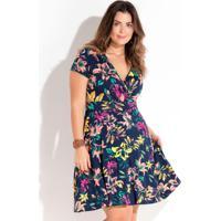 33433f3f7 Posthaus. Vestido Transpassado Floral Plus Size Quintess