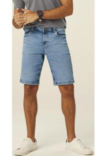Bermuda Azul Claro Slim Jeans Masculino
