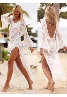 42b346b7d Saída De Praia Off White Renda feminina | Shoes4you