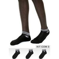24a271b3b Dafiti. Kit 3Pçs Meia Adidas Originals ...
