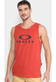 Regata Oakley Bark Masculina - Masculino-Vermelho