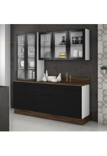 Cozinha Compacta Exclusive 8 Pt 3 Gv Preta E Branca