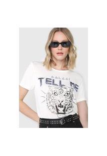 Camiseta Colcci Tell Me Branca