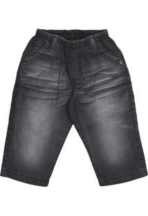 Calça Look Jeans C/ Elástico Black