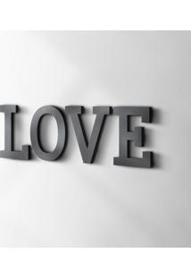 Palavra Decorativa Love Preta