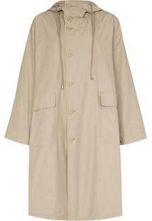 Frankie Shop Trench Coat Oversized Com Capuz - Neutro