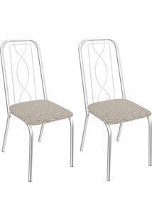 Kit Com 2 Cadeiras Kappesberg Viena Com Acabamento Cromado - 2C072Cr