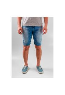 Bermuda Pitt Jeans Claro Com Elastano