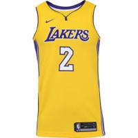 ca9ed3c32b Camisa Regata Nike Nba Los Angeles Lakers Lonzo Ball 2 - Masculina -  Amarelo Roxo