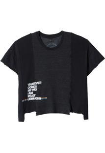 Camiseta John John Wathever Feminina (Preto, P)