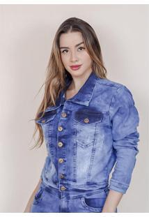Jaqueta Jeans Feminina Com Elastano Clean