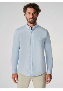 Camisa Ml Oxford Pima Leve Reserva Azul