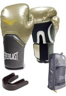 Kit Everlast Luva Pro Style Elite + Protetor Bucal Simples - Unissex