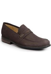 Sapato Social Masculino Loafer Sandro Mascoloni Greiesman Buck - Masculino-Cafe