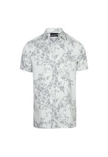 Camisa Masculina Tricoline Flamê Cerejeira Off+Pto