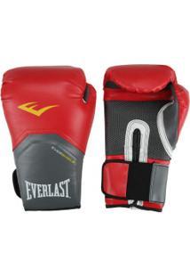 Luvas De Boxe Everlast Pro Style Elite 14 Oz - Vermelho/Branco