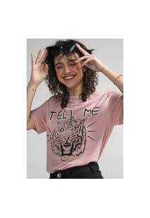 Camiseta Colcci Tell Me Rosa