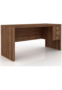 Mesa Para Computador Com 3 Gavetas Me4113 – Tecno Mobili - Nogal