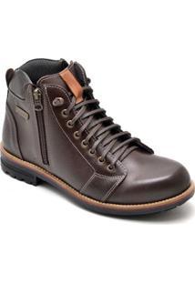 Bota D&R Shoes Couro Masculino - Masculino