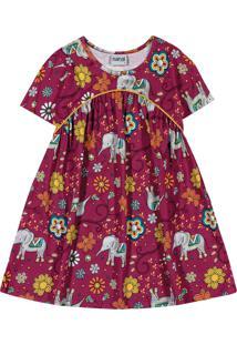 Vestido Infantil Nanai Vermelho