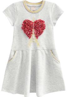 Vestido Infantil Mescla White