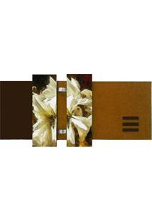 Quadro Floral Marrom 60X115Cm