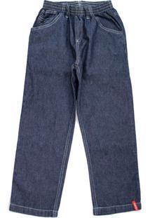 Calça Jeans Escuro Com Elástico Toing Kids