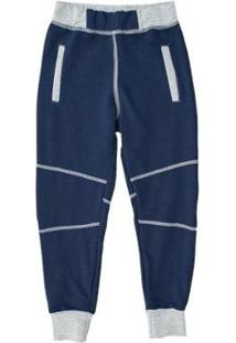 Calça Infantil Comfy Jogger Masculina - Masculino-Marinho